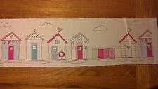5 Pink Blue Beach Houses With Windbreak 46cm x 15cm Material For Patchwork