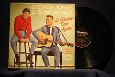 GEORGE JONES/GENE PITNEY-Country Time Again-Country Duet Promo VG+ Vinyl LP