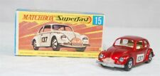 MATCHBOX SUPERFAST - SF-015A VER 5, VW 1500, RED, FRT BUMPER W/DECAL JB1883