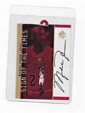 Michael Jordan 1999 Upper Deck Hanger Promos 98-99 SPA Sign Of The Times RARE