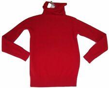 New Antonio Melani Cashmere Turtleneck Sweater XS Red Basketweave Texture