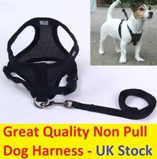 Nuevo No Tire Transpirable Arnés Del Perro Cachorro Formación Medio de Malla de control caminar Reino Unido