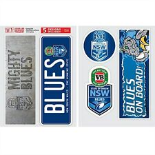 NSW Blues State of Origin Set of 5 UV iTag Bumper Decals / Stickers