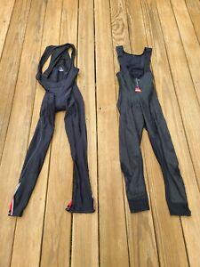 ASSOS CYCLING LONG WARM BIB TIGHTS no pad Black + Castelli Bib Tights XL padded