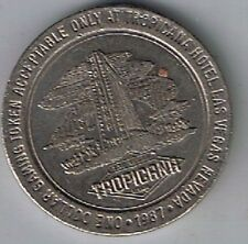 Tropicana Hotel Casino $1.00 Gaming Token Las Vegas Nevada 1987
