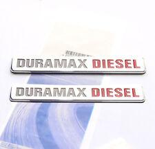 2x OEM Chrome Duramax Diesel Allison Truck Emblem Badges SILVERADO GMC SIERRA FU