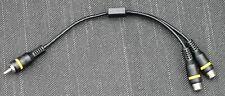 Cinch Adapter Verteiler Splitter 1 Stecker auf 2 Buchsen CHINCH HIFI RCA 0,2 m