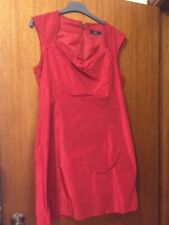 Cue Red Satin Size 14 Dress - Preowned (no belt)