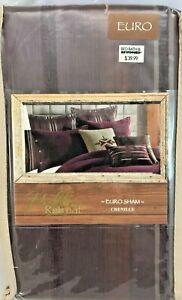 "New Hidden Retreat Chenille Purple 26""X26"" Euro Pillow Sham - Set of 2"