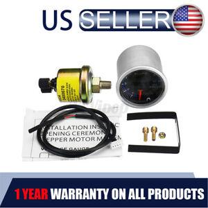 Universal 2'' 52mm 7 Color LED Electronic 10 BAR Oil Pressure Gauge Meter Sensor