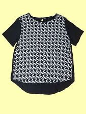 Tunique Haut pour Femmes Chemisier Blouse Shirt Chemise U-Clipping Gr. 44
