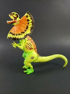Jurassic World Growler Hybrid Dilophosaurus Figure Lights & Sounds Green Orange