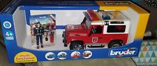Bruder #02596 Land Rover FIRE with Fireman and Light and Sound Module! NEW!