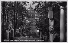 AK Albendorf Bez. Breslau Blick vom Kalvarienberg z. Wallfahrtskirchen Echt Foto