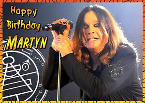 Ozzy Osbourne Rock Heavy Metal Music PERSONALISED Birthday Greeting ART Card