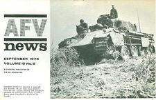 AFV News V10 N5 US Armor Camo & Markings_Leopard 1A3_WW2 Pzkw.1 Ausf A_IDF RBY