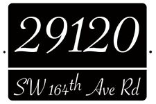 HOUSE NUMBER ADDRESS PLATE 8 X 12 ALUMINUM SIGN DECOR PLAQUE