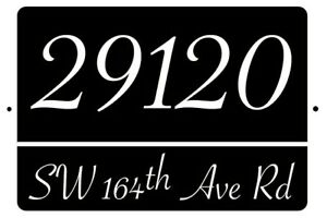 HOUSE NUMBER CUSTOM ADDRESS PLATE ALUMINUM SIGN DECOR PLAQUE 3 SIZES AVAILABLE