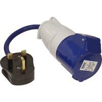 Defender Fly Lead Adaptor 230v (13a Plug & 16a Socket) Generator, Convertor 240v