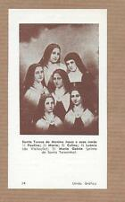 St.THERESE INFANT JESUS Lisieux w/4 sisters + cousin CARMELITES. Vtg HOLY CARD