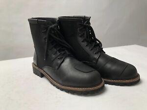 Spada Pilgrim Motorcycle Motorbike Boots - black leather