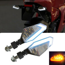 Pair 19W ATV Scooter Yellow LED Blinker Indicator Light + 9W White Driving Fog