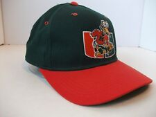 Vintage Miami Hurricanes Starter Hat Green Orange 7 1/4 Fitted Baseball Cap