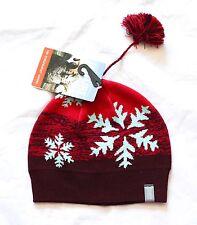 NWT - Ice Breaker Chalet Hat Garnet with pom - Merino Wool $39.99