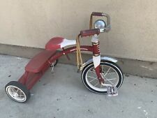 Vintage Retro Radio Flyer Red Tricycle Dpoke Wheels Steel Frame Model 33