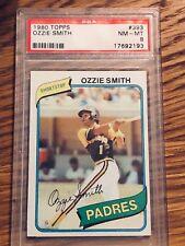 1980 Topps Ozzie Smith #393 PSA 8
