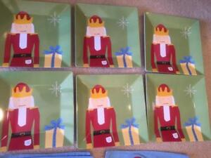 BRAND NEW 12pc Pottery Barn Kids NUTCRACKER Placemats Plates Table Set Christmas