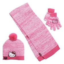 Hello Kitty 3-Piece Hat, Scarf and Mittens Set NWT