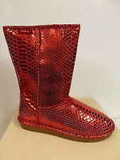 Pika Womens Classic Dazzle Shearling Lined Winter Boot Merlot Size 8