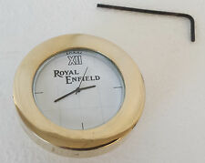 New ROYAL ENFIELD LOGO WHITE DIAL BRASS STEM NUT / HANDLE T NUT WATCH CLOCK