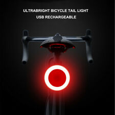 Waterproof Bicycle Bike LED USB Rechargeable Tail Light Smart Brake Rear Lamps