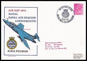 1971 GB Royal Naval Air Station Lossiemouth Air Day Buccaneer Flown FAA Cover