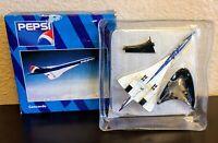 Herpa Wings PEPSI Concorde 1:500 Die Cast Model w/ Stand 507011 NEVER DISPLAYED
