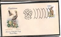 US SC # 1970 State Birds And Flowers ( Louisiana ) FDC. HF Cachet .