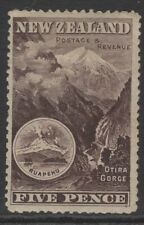 NEW ZEALAND SG253 1898 5d SEPIA MTD MINT