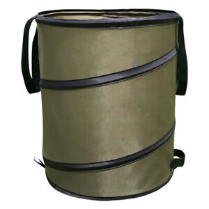 Pop Up Garden Bin Sack Bag Bin Leaves Grass Clippings Folding Refuse 37 Litre *L