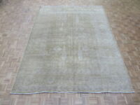 9 X 11'8 Hand Knotted Overdyed Light Brown Peshawar Oushak Oriental Rug G5410