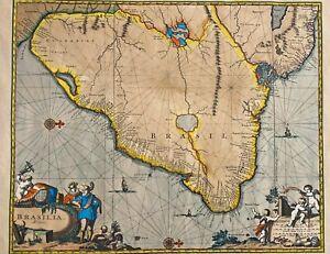 Antique Brasil Map - Ingres 1623 France