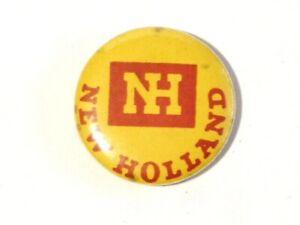 Vintage NH New Holland Advertising Pin Badge Farming #B27