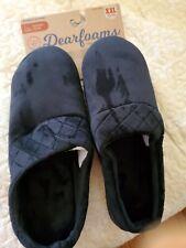 DEARFOAM Black VELOUR CLOG Slip On INDOOR/OUTDOOR Slippers Women XXL 13 / 14