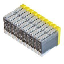 10 Drucker Tinte Patronen für Brother LC970 DCP130C DCP135C MFC230C MFC235C bk