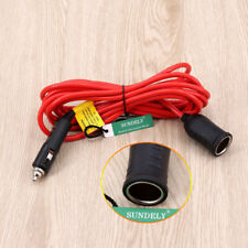 NEW 12V Car Cigarette Lighter Extension Cable Lead Charger Power Socket Adapter