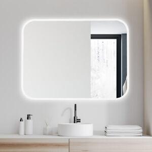 JC 28x36 Bathroom LED Vanity Mirror Dimmable Defogger Touch Sensor 3 Colors 7D