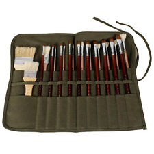 Artist Paint Brush Roll Up Bag Holder Canvas Pouch