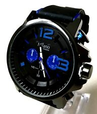 Mens Sport Watch Milano MC44002 Black Silicone Band Casual Watch Water Resistant