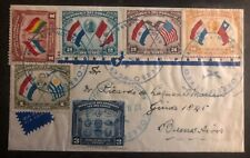 1939 Asuncion Paraguay First Day cover FDC To Buenos Aires Argentina Cooperation